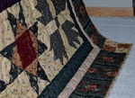 Antique civil war reproduction fabric quilt